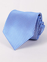 White And Pale Blue Striped Tie #PT060