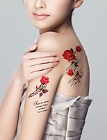 5Pcs Waterproof Color Roses Pattern Temporary Body Art Tattoo Sticker