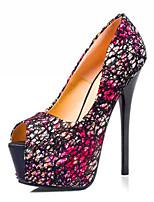 Women's Shoes  Stiletto Heel Heels/Peep Toe Pumps/Heels Casual Black/Pink