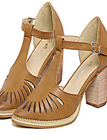 Women's Shoes  Chunky Heel Pointed Toe Sandals Casual Brown/White