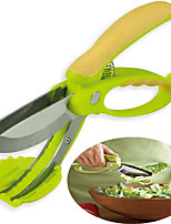 Toss and Chop Salad Scissors Tongs Fruit Vegetable Cutters Kitchen Tool