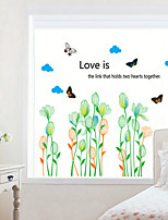 Wall Stickers Wall Decals Style in Bud Flower PVC Wall Stickers