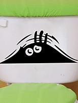 stickers muraux de style de décalques muraux de toilette oeil salle de bains décoration de PVC autocollants