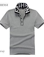 Tee-Shirt Décontracté Pour des hommes Manches Courtes Coton