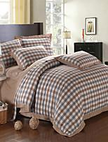 H&C 100% Cotton 1000TC Duvet Cover Set 4-Piece Checker Pattern BSMY-002