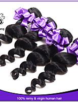 7a malasio 3pcs sueltos onda del pelo virginal extensiones de cabello barato malasio onda floja vírgenes humanos