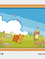 DIY Digital Oil Painting With Solid Wooden Frame Family Fun Painting All By Myself    Spring Outing 3016