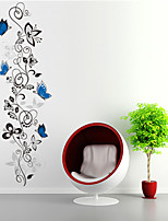 Wall Stickers Wall Decals Style Butterfly Flower Rattan PVC Wall Stickers
