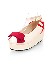 Women's Shoes Faux  Platform Round Toe/Closed Toe Pumps/Heels