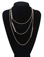 Women's European Style Exquisite Fashion Multilayer Alloy Necklace