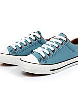 Zapatos de mujer - Tacón Plano - Comfort / Punta Redonda - Zapatos de Deporte - Exterior / Casual / Deporte - Tela - Negro / Azul / Rojo