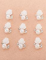 10Pcs/Set Lovely Unique Design Diamond 3D Alloy Nail Art Decoration ZJ0024
