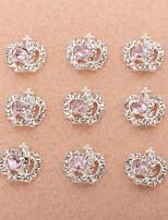 10Pcs/Set Lovely Unique Design Diamond 3D Alloy Nail Art Decoration