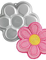FOUR-C Metal Flower Shape Aluminum Cake Baking Pan Mold, Baking Tools for Cakes