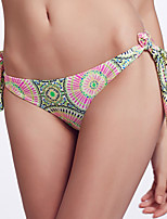 The Fille Women's Adjustable Stripped /Paisley Floral Stamping Bikini Panties