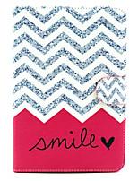 motif de sourire vague cuir PU cas complète du corps avec support pour iPad mini-1/2/3