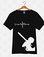 Sword Art Online Kirito White& Black T-shirt Cosplay Costumes