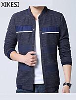 Men's Casual/Work Long Sleeve Regular Jacket (Cotton/Polyester)XKS7B07