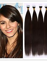 18-28inch PU-Hauteinschlagfaden / Band im Haar / Kleber Hauteinschlagverlängerung virgin hair Fusion 2.5g / strand 100g / pc 1pc / lot auf
