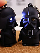 Mini Darth Vader Action Heroes Toy Keychain LED Flashlight with Sound (Random Color)