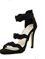 Women's Shoes  Stiletto Heel Pointed Toe Sandals Casual Black