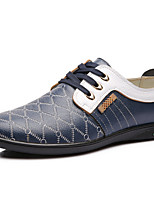 Men's Shoes Outdoor/Office & Career Leather Oxfords Blue/Orange