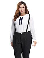 Prettyshow 2015 Autumn Korean Style Women Plus Size XL-5XL O-neck Full Sleeve Chiffon Casual Slimming Clothes QA3CC0396