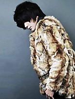 Men's Long Sleeve Handsome Fur Casual/Party Coat