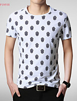 2015 Quality Cotton Men's Short Sleeve T-Shirt Printing Hot Sell