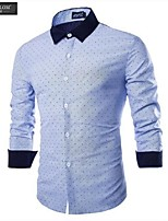 JESUNLOM®Man's Shirt Fashion Long Sleeve England Style Slim Shirt Young Man Casual All-Match Shirt