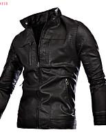 2015 Men's Fashion Leisure Leather Jacket