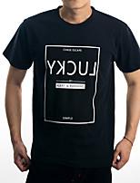 Guilan Men's Short Sleeve Print Pattern LUCK 08 T-shirt