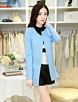 SEXY TOY® Women's Casual/Work Medium Long Sleeve Long Blazer (Polyester)
