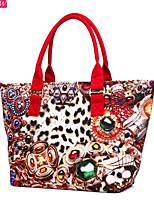 Fashion Women's Canvas Casual Shoulder Bag Retro Rucksack Messenger Bag Leopard Handbag