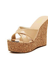 Women's Shoes Wedge Heel Wedges/Styles Slippers Casual White/Beige
