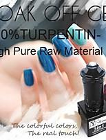 Y-SHINE 2 Pcs Nail Gel Polish Soak Off Uv Gel Nail Polish Y61-Y66(Vivid Blue&Ultramarine)