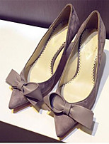 Women's Shoes Faux Suede Stiletto Heel Pointed Toe Pumps/Heels Party & Evening/Dress Gray/Khaki