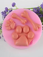 piedi di ossa del fondente stampo in silicone torta al cioccolato, attrezzi della decorazione bakeware