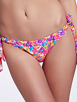 The Fille Women's Adjustable Stripped /Retro Floral Stamping Bikini Panties
