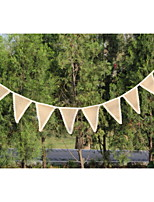 New Arrival Wedding  Hessian Burlap Banner Bunting