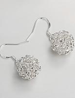 S925 Silver Drop Earring Design for Women Hollow Out Ball Design Drop Earring