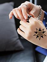 5Pcs Waterproof Luminous Pentacle Pattern Temporary Body Art Tattoo Sticker