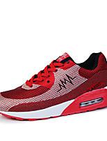 Zapatos de mujer - Tacón Cuña - Punta Redonda - Zapatos de Deporte - Exterior / Casual - Tul - Azul / Rojo / Gris
