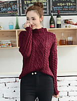 Women's Casual/Work Stretchy Medium Long Sleeve Pullover (Knitwear)SF7B64