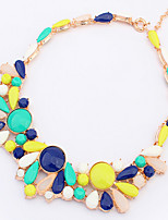 Jazlyn® Fashion Partysu Drops Colorful Gemstone Women's Ball Necklace for Gift