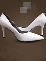 Women's Shoes Faux Leather Stiletto Heel Heels Pumps/Heels Dress/Casual Black/White
