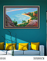 DIY Digital Oil Painting  Large Size Without Frame  Family Fun Painting All By Myself     Tropical Beach 6016