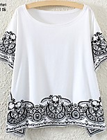 Women's White T-shirt Short Sleeve