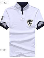For men with white cotton short sleeved T-shirt slim new summer.