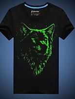 Men's 3D O-Neck Short-Sleeve Noctilucent T-Shirt (Cotton)